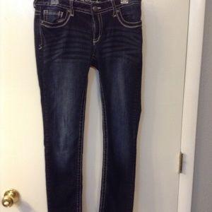 Rue 21 sz 9/10 white washed black skinny jeans